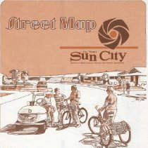 Image of map - Street map of Sun City from 1974.
