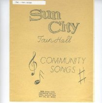 Image of Sun City Music - A collection of community songs including:  Jeanie With The Light Brown Hair, When Irish Eyes Are Smiling, Carolina Moon and others.