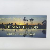 Image of Booklet - Pamphlet of Sun City 50 Years 1960-2010. Contains detailed map of Sun City, Sun City West, Sun City Grand and Youngtown. Also has street index .