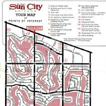 Image of Del Webb's Trour Map of Points of Interest