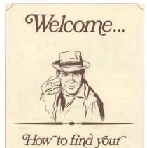 """Image of Pamphlet - Del Webb Company marketing brochure titled:  """"Welcome...How To Find Your Way To Your Vacation Apartment"""" in Sun City.  There are 18 vacation aprtments located just south west of the Kings Inn Office and Restaurant at Grand and 107th Avenue."""