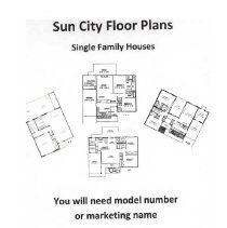 Image of Plan, Floor - Sun City Single Family Houses Floor Plans:  1 - 18, 31 - 36 and 41 - 46.  Plans are from Del E. Webb Development Company.