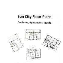 Image of Plan, Floor - Sun City Garden Chalet floor plans 1 - 4 and 200 - 202.  Plans are by Del E Webb Development Company.