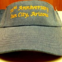 Image of Sun City 50th Anniversary - 50th anniversary visor for Sun City.  Blue cap.