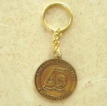 Image of Sun City 50th Anniversary - Two sided 50th Anniversary Key Ring for Sun City. Del Webb the man is on one side and the opther side says 50th Annersary.