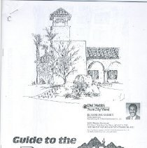Image of Booklet - Guide to the Recreation Centers of Sun City West, Inc., date of pamphlet is unknown.  Pamphlet has floor layout of each recreation center with description.  This pamphlet was produced before SCWP 15 because Palm Ridge Recreation Center was under construction.