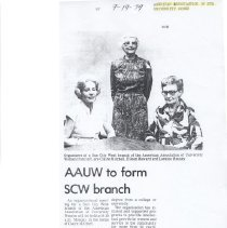 Image of AAUW forms SCW branch