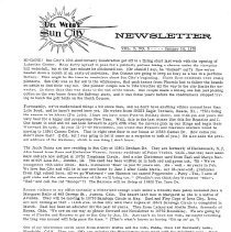 Image of Newsletter - Sun City newsletter and activities calendar for January 14, 1970