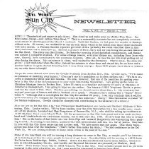 Image of Newsletter - Sun City newsletter and activities calendar for March 11, 1970