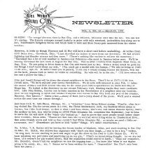 Image of Newsletter - Sun City newsletter and activities calendar for March 25, 1970