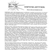 Image of Newsletter - Sun City newsletter for November 25, 1970