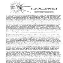 Image of Newsletter - Sun City Newsletter for November 8, 1972.