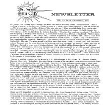 Image of Newsletter - Sun City Newsletter for December 6, 1972.