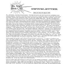 Image of Newsletter - Sun City Newsletter for May 9, 1973.