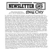 Image of Newsletter - Sun City Newsletter for December 12, 1973.