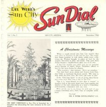 Image of Newsletter - Sun Dial Newsletter published by Del E Webb Development Company for December 1960.
