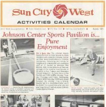 Image of Newsletter - Sun City West Activities Calendar produced by the Del E Web Development Company for August 1981.