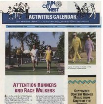 Image of Newsletter - Sun City West Activities Calendar produced by Del E Webb Development Company for September 1987.