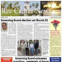 Image of Newsletter - Rec Center News Sun City West newsletter for March 2008.