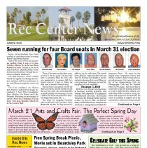 Image of Newsletter - Rec Center News Sun City West newsletter for March 2009.