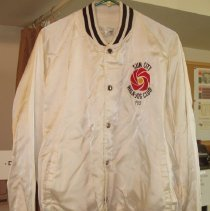 Image of Sun City General - Sun City Walk-Jog Club jacket.  The jacket belonged to Frank D Stazio who served several terms of presidency when it was called the Sun City Jogging Club during the 1970's.  The club changed its name to the Sun City Walk-Jog Club, as shown on the jacket.
