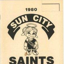 Image of Sun City Saints - 1980 Sun City Saints scorecard booklet.