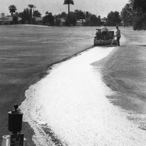 Image of Golf - Course crew working on cart path.