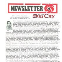 Image of Newsletter - Sun City Newsletter for September 18, 1974.