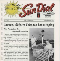 Image of Newsletter - Sun Dial Newsletter published by Del E Webb Development Company for August - September 1963.