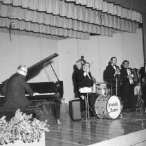 Image of 12th Anniversary  - Freddie Davis orchestra plays at Town Hall South, now known as Mountain View.