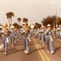 Image of 25th Anniversary  - Marching band in parade.