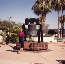 Image of Liberty Bell - Carole Carpenter rings that bell.