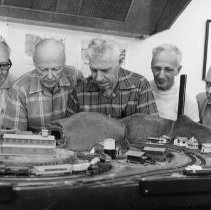 Image of Model railroad club - Everything built by hand