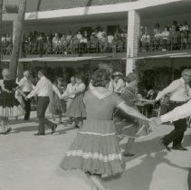 Image of Square Dancing - Square dancing poolside at Sundial Center.