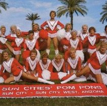 Image of Postcard - Leslie Sun Cities Pom Pons poising.
