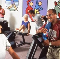 Image of Sun City West fitness - Working out at recreation center.