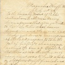 Image of Letter from Higginbotham B13