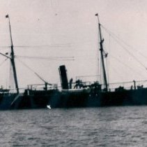 Image of Steamer with sails - Print, Photographic