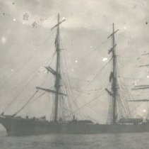 Image of Full rigged ship - Print, Photographic
