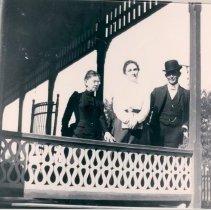 Image of Albemarle Hotel porch scene - Print, Photographic