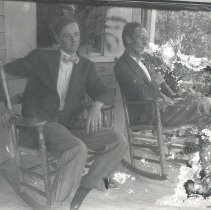 Image of Two men on porch - Print, Photographic