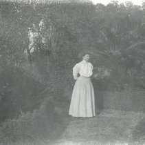 Image of Lady in garden - Print, Photographic