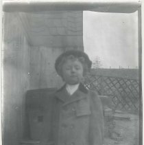 Image of Child in coat and hat - Print, Photographic