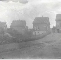 Image of Group of four houses - Print, Photographic