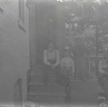Image of Family on porch - Print, Photographic
