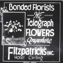Image of Advertisement for Fitzpatrick's Florists - Print, Photographic
