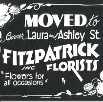 Image of Fitzpatrick Florists ad - Print, Photographic