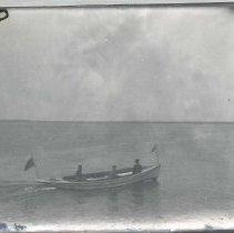 """Image of Three men in boat """"Dixie"""" - Print, Photographic"""