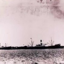 Image of Part of a panoramic scene of Fernandina Harbor - Print, Photographic