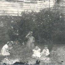 Image of Children on lawn - Print, Photographic